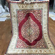 Camel Carpet Red Silk Hand Knotted Oriental Persian Rug https://www.amazon.com/dp/B01HXJ0QJ0/ref=cm_sw_r_pi_dp_yTYExbRSDSAD8