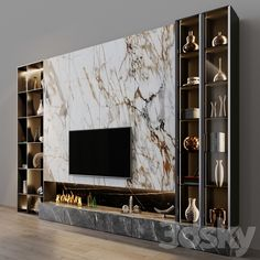 3d models: TV Wall - tv set 128 Tv Unit Interior Design, Tv Wall Design, Door Design, Tv Set Design, Tv Unit Decor, Tv Wall Decor, Wall Tv, Fireplace Tv Wall, Modern Tv Room