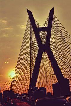 Ponte Estaiada . SP - Por Fe Lanzoni
