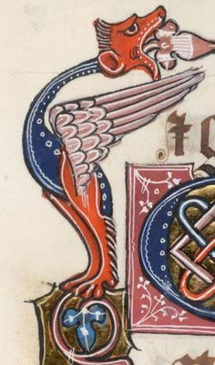 Detail from The Luttrell Psalter, British Library Add MS 42130 (medieval manuscript,1325-1340), f279v