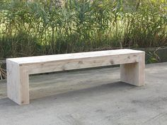 Look at the construction of this chunky bench
