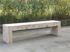 Eenvoudig bankje van steigerhout. Milika, www.steigerhoutenzo.com