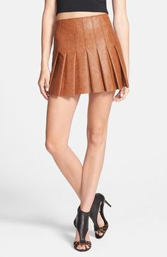 ASTR Faux Leather Pleat Front Skirt available at #Nordstrom