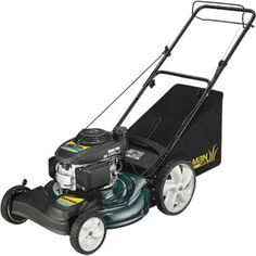 Yard-Man 12A-B29Q701 21-Inch 160cc Honda GCV Mulch/Side Discharge/Bagging Gas Powered Self Propelled Lawn Mower with High Rear Wheels. Details at http://youzones.com/yard-man-12a-b29q701-21-inch-160cc-honda-gcv-mulchside-dischargebagging-gas-powered-self-propelled-lawn-mower-with-high-rear-wheels/