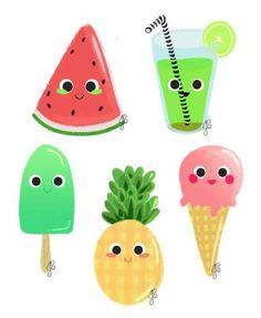 New fruit illustration girl 66 Ideas Fruit Illustration, Food Illustrations, Digital Illustration, Watermelon Drawing, Cute Watermelon, New Fruit, Fruit Juice, Summer Fruit, Pineapple Art