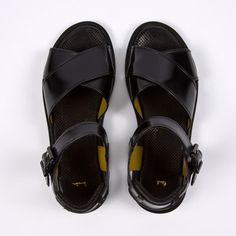 Paul Smith Shoes | Black Amalfi Calf Leather 'Hawkers' Sandals