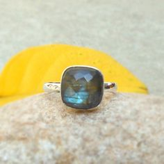Natural Faceted Labradorite 925 sterling by FineSilverStudio