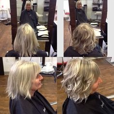 HAIRBYALLYSONGRAY 2tones of LowLites and some HiLites to break up the monotone topped with a cut and fun style. HAIRBYALLYSONGRAY