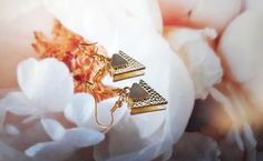 Triangle Earrings, Hippie Boho, Christmas Cards, Gifts For Her, Handmade Jewelry, Pouch, Gold, Etsy, Christmas E Cards