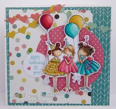 Spotlight On: Tiny Townie Birthday Party   stamping bella  die cut available for this image also
