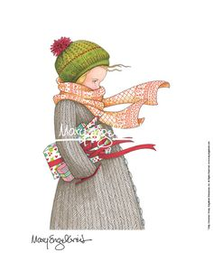 """""""Chilly Christmas"""" Print - Perfect for this Christmas!"""