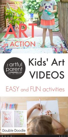 Kids Art Videos on The Artful Parent YouTube Channel