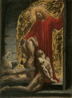 Jean Delville: Title unknown, looks like Christ in Limbo