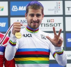 Peter Sagan World Champion Bergen 2017 Cycling News, Pro Cycling, Casual Makeup, Spirit Quotes, Cycle 3, Mind Body Spirit, Mountain Biking, Champion, Bergen