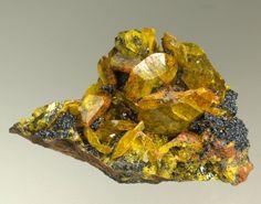 Sturmanite,  Ca6(Fe+++,Al,Mn++)2(SO4)2[B(OH)4](OH)12•25(H2O), N'Chwaning III Mine, Kalahari Manganese Fields, Kuruman, Northern Cape Province, South Africa