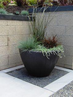 Potted Patio Plant Designs   Sensational Plant Pots decorating ideas for Aesthetic Landscape ...