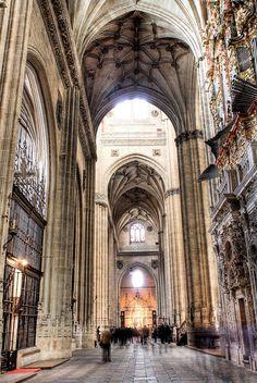 Interior da Catedral de Salamanca, provincia de Salamanca, Comunidade Autonoma de Castela e Leao, Espanha.