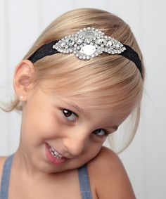 Silver Rhinestone & Lace Headband by Lil Miss Sweet Pea #zulily #zulilyfinds