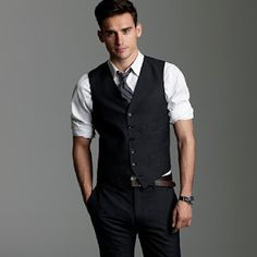 Dressed-Down Shirt/Tie/Vest Perfect for Happy Hour