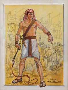 JOHN JENSEN COSTUME SKETCH FOR MICHAEL ANSARA FROM THE TEN COMMANDMENTS