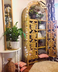 instagram.com/AnsleyDesigns www.ansleydesigns.com Decor, Painted Furniture, Bamboo Beaded Curtains, West Elm, Refinishing Furniture, Boho Decor, Affordable Home Decor, West Elm Decor, Vintage Furniture