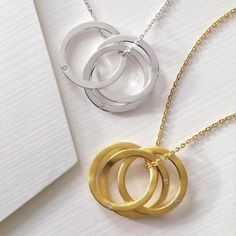 diamond-accented rings necklace