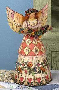 Angel Of Gratefulness - Angel/Flower Garland Figurine - Jim Shore Angels 108921