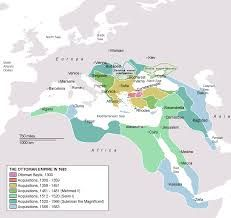 In 1460, most of Greece was owned by Turkey. This is a map showing the areas owned by Turkey. After four long centuries of being under the Turkish rule, called The Ottoman Empire, The Greeks started a war for freedom. With Britain, France, and Russia supporting it, the greeks finally won their independence in 1832.