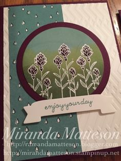 You're So Lovely Photopolymer Stamp Set, Flowering Fields. Stampin Up Cards. Occasions Catalog 2016.
