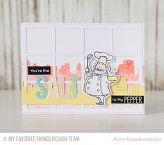 Recipe for Happiness, Recipe for Happiness Die-namics, Skyline Border Die-namics, Square Grid Cover-Up Die-namics, Stitched Alphabet Die-namics - Anna Kossakovskaya #mftstamps