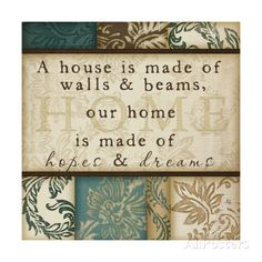 Home Is Made Art by Jennifer Pugh at AllPosters.com