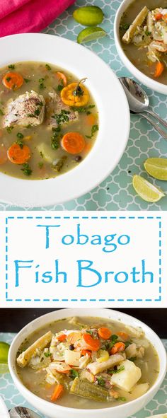 Recipe for delicious fish broth (soup) a Caribbean favorite. A light liquid soup that is packed with your fish and different provisions and is said to be great for hangovers.