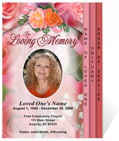 214 best creative memorials with funeral program templates images on beautiful funeral programs diy rosy 4 page graduated step fold program template solutioingenieria Image collections