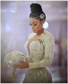 FABULOUS is the only way to describe this Bridal Styles bride's wedding day! Keyshia Ka'Oir wed Gucci Mane in a celebration so sparkly were blinded by the glam! Dream Wedding Dresses, Bridal Dresses, Wedding Gowns, Wedding Cake, Gatsby Wedding, Gucci Mane Wedding, Braut Make-up, Bridal Headpieces, Beautiful Gowns