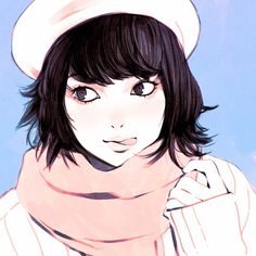Beret Short study from photo in Japanese magazine (ViVi) by kuvshinov_ilya Manga Girl, Manga Anime, Anime Art, Character Inspiration, Character Art, Character Design, Character Illustration, Illustration Art, Kuvshinov Ilya