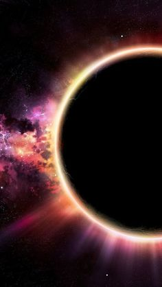 Solar eclipse colours. The wonders of the universe, space oddities, stars, planets, cosmos, galaxies, nebulas and cosmic inclinations.