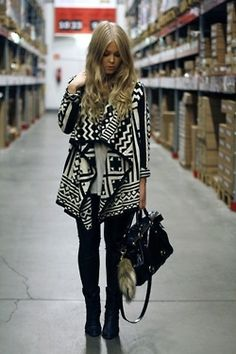 love this tribal print sweater