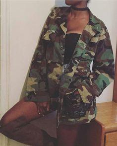 Unisex Army Fatigue Camo Jacket DEWWWhWF