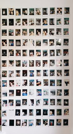 Polaroid walls are so cute and a fun way to show off your pictures! Check out me. Polaroid walls a Photo Polaroid, Polaroid Wall, Polaroid Display, Polaroids On Wall, Instax Wall, Polaroid Pictures Display, Polaroid Decoration, Photowall Ideas, Cute Room Decor