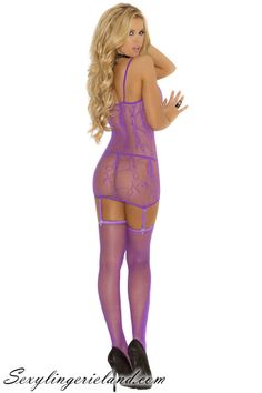 EM-1556 #Fishnet #lingerie set $25.00  Three piece set. #Floral pattern fishnet #camisette, #g-string and #stockings.  #lingeries #camisole #minidress #blonde #gogogirl #gogoset #sexy #flirty #highhells #deal #selling #fashion #fishnets #stripwear #follow #picoftheday #luxury #nice #design #outfit #style #purple