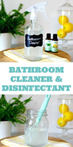 This DIY Bathroom Cleaner Disinfectant Spray is easy to make using some items you may already have in your kitchen, and it will leave your bathroom sparkling clean! via Best Picture For home Homemade Cleaning Supplies, Cleaning Spray, Homemade Cleaning Products, House Cleaning Tips, Natural Cleaning Products, Cleaning Hacks, Diy Hacks, Deep Cleaning, Household Cleaning Products