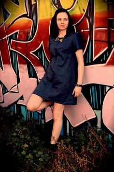 DIY Made this dress and my gorgeous friend modelled it for my folio shots  Dress  Graffiti  Model Fashion No makeup needed  All natural