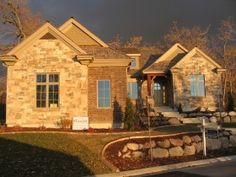 Woodline Drive Property,  Salt Lake City, Rock exterior and brick.  Warm Rustic Features.