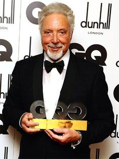Sir Tom Jones with his Legend Of The Year award, 2012    Oh my...