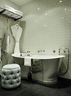 Apartment Bath at Soho House Hotel, Berlin