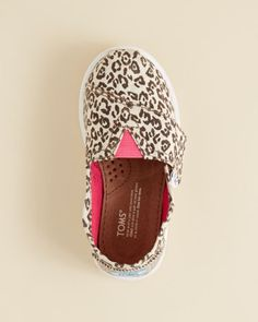 Toms Girls' Metallic Leopard Print Flats - Baby, Walker, Toddler