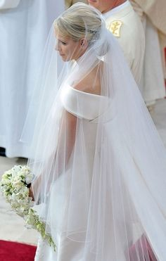 A beautiful view of Princess Charlene on her wedding day, July 2, 2011.