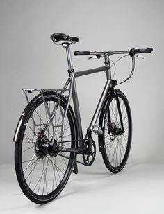 Custom Firefly Belt Driven Titanium Commuter Bike, Rohloff-Equipped