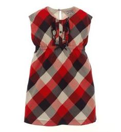 Infant Red & Blue Plaid Dress Ensemble #kimberlingray