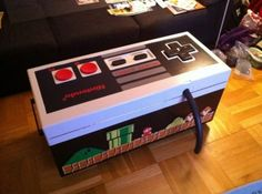 Retro Nintendo Controller Storage Coffee Table.